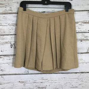Ann Taylor Cream Skort Pleated Front